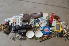 JUNK DRAWER LOT vintage antique junk drawer lot collectibles: ephemera and more