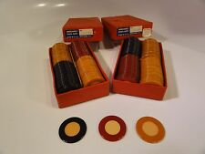 201 CATALIN BAKELITE POKER CHIPS  CREAM CENTERS with RED BLUE BUTTERSCOTCH