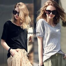 New Lady Women's Fashion Short Sleeve O-Neck Casual Loose T-Shirt Top OO5501