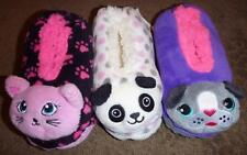 Girls Jacques Moret FUZZY BABBA Slippers Socks Size S/M M/L Dog Pug Cat Bear NWT