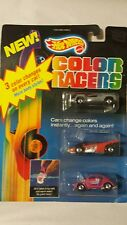Hot Wheels Color Changers Racers 3 Car Pack 1987 MOC VW Beetle pink and 2 others