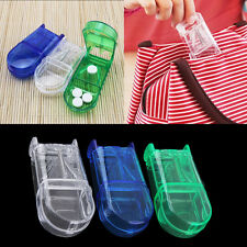 Portable Travel Medicine Pill Compartment Box Case Storage with Cutter Blade TM