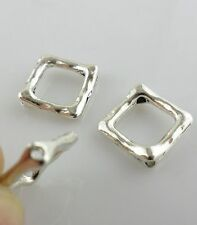 40/320pcs Square Frame Antique Silver Charm Spacer Beads Jewelry Beading Making