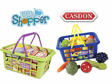 Casdon 628 Toy Play Shopping Basket With Branded Play Food NEW