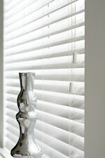 WHITE WOODEN VENETIAN WOOD BLINDS, 50MM SLATS MADE TO MEASURE