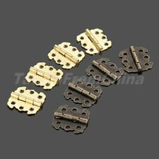 Antique Bronze Gold Cabinet Cupboard Door Case Hinges Home Hardware 4/12/20pcs