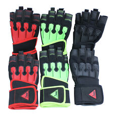 Half-Finger Gloves with Shock Impact Protection Palm Adjustable Wrap Band Gloves