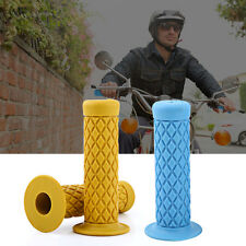 "1 Pair of 7/8"" 22mm Universal Rubber Motorcycle Handlebar Hand Grips Bar End"