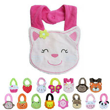Kids Infant Toddler Cute Cartoon Lunch Bibs Baby Animal Saliva Towel Bib
