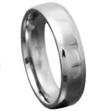 6mm High Polished Beveled Edges Ring Jewelry Titanium Unisex Wedding Band