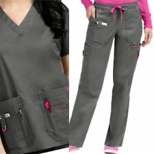 NEW MEDICAL NURSE UNIFORM SCRUB SET by MED COUTURE PEWTER size XS S L XL NWT