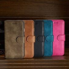 New Luxury Suede Leather Flip wallet Case Cover For Apple iPhone 5 6 7 7 Plus
