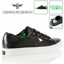 New Creative Recreation Kaplan Trainers Shoes Black/Green Mens Stylish Sneaker