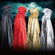 Men Women Warrior Hooded Cloak Robe Costume Outfit Hallowmas Cosplay Costume
