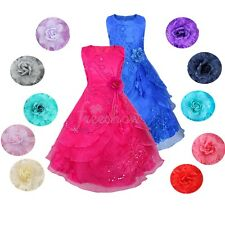 Flower Girl Princess Birthday Wedding Bridesmaid Pageant Graduation Formal Dress