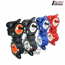 Cycling Bike Bicycle Front Flash Light Torch 360° Rotation Clamp Mount Holder