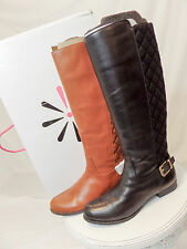 Isaac Mizrahi Leather Riding Boots (in Saddle Brown and Black)