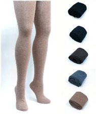 PLUS SIZE Womens 80% Cashmere Wool Opaque Knit Thick Tights | Winter