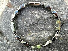 Men's African Turquoise Magnetic Hematite Necklace THERAPY Free Shipping STRONG!