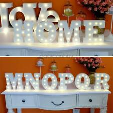 Wooden 26 Letters LED Night Light Festival Lights Party Lamp Wall Hanging MU