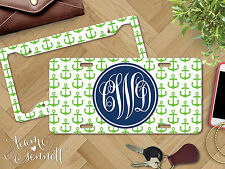 """""""Anchors"""" Personalized Monogrammed Aluminum Vanity License Plate & Frame"""