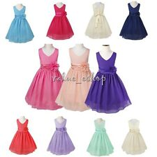Flower Girl Dress Birthday Formal Pageant Wedding Bridesmaid Recital Party Dress
