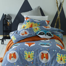 NEW Funny Faces Quilt Cover Set