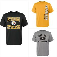 Pittsburgh Steelers NFL Youth Boys Pick Color Short Sleeve Team T-Shirts: S-XL