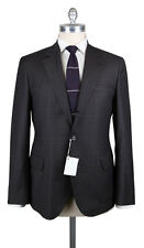 New $4395 Cucinelli Charcoal Gray Wool Window Pane Suit - (BC4762254C)