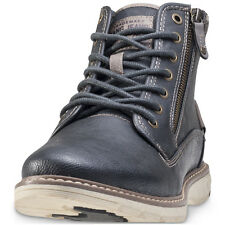 Mustang Hi Top Mens Boots Anthracite New Shoes