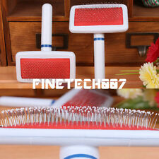 Pet Puppy Dog Cat Hair Shedding Grooming Trimmer Fur Comb Brush Slicker Tool WC