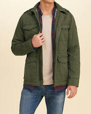 Abercrombie & Fitch Hollister Jacket Mens Military Winter Jacket L Olive NWT