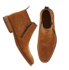 New Handmade Custom Men's Tan Suede Boots Leather Sole Dress Formal Boots