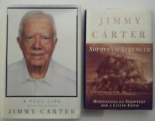 Lot of Jimmy Carter's Sources of Strength & A Full Life by Jimmy Carter HC