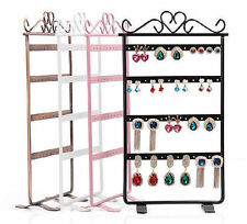 48 Holes Plastic Earrings Display Show Jewelry Rack Stand Organizer Holder WC