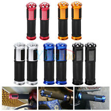 "Motorcycle Aluminum Rubber Gel Hand Grips for 7/8"" Handlebar Bike Bicycle New BT"