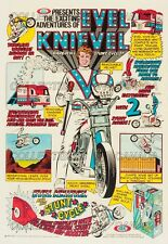 """EVEL KNIEVEL 1974 Motorcycle VAN = Poster = Not Comic Book = 7 SIZES 19"""" - 36"""""""