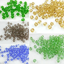 100× Artificial Crystal Bicone Shape Spacer Loose Beads Jewelry Findings Candid