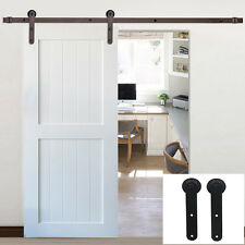 6-16FT Single Sliding Barn Door Hardware Closet Track Kit Rail Cabinet Garage