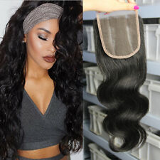 4X4 Lace Closure Remy Indian Body Wave Hair Weaving 100% Virgin Human Hair Weave