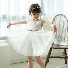 Bella Ivory Lace Girl Formal Dress Christening Wedding Party Gown Bridesmaid New