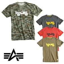 Alpha Industries Men'S Man T-Shirt Willys TT MA1 S M L XL XXL 3XL NEW