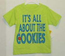 New Boy's Green Sesame Street COOKIE MONSTER Embellished Shirt, 12 Months