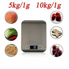 Kitchen Scale Stainless Steel Digital LCD Electronic Postal Food Weighing AU