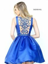 NWT 50505 SHERRI HILL ROYAL BLUE HOMECOMING GOWN FORMAL PROM PAGEANT DRESS Sz4