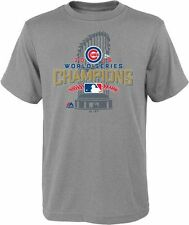 Chicago Cubs 2016 World Series Champions Youth Locker Room T-Shirt Rare Limited