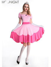 Halloween Costumes for Women Pink Adult Cosplay Princess Dress Fairy Tale Dress