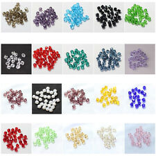 Free Post 100pcs 3mm Bicone 5301# Faceted Crystal Glass Loose Spacer Beads