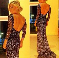 Womens Sexy Sequin Formal Prom Long Dress Cocktail Party Ball Gown Evening Dress