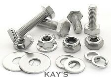 M6 HEXAGON SET SCREWS FULLY THREADED BOLTS NUTS NYLOCS WASHERS STAINLESS STEEL